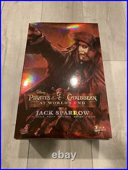 Pirates Of Caribbean At Worlds End Jack Sparrow Hot Toys Figure MMS 42 Complete