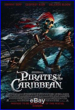 Pirates Of The Caribbean (2003) Original Advance Movie Poster Rolled 2-sided