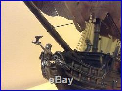 Pirates Of The Caribbean Black Pearl Ship Hawthorne Village Movie Statue Rare