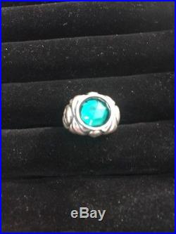 Pirates Of The Caribbean Jack Sparrow Emerald Skull Sterling Silver Ring Size 6