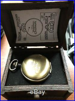 Pirates Of The Caribbean Pocket Watch In A Treasure Chest Case Authentic Disney