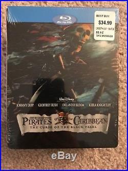 Pirates of the Caribbean Best Buy Steelbook Trilogy + bonus NEW Sealed ` OOP