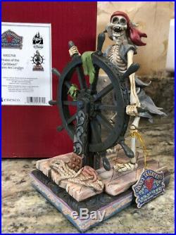 Pirates of the Caribbean Helmsman Jim Shore SIGNED AUTOGRAPHED Skeleton Sailing