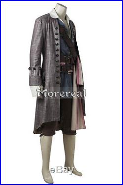 Pirates of the Caribbean Jack Sparrow Cosplay Costume Dead Men Tell No Tales Set