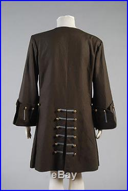 Pirates of the Caribbean Jack Sparrow Cosplay Costume Halloween Outfit Coat Set