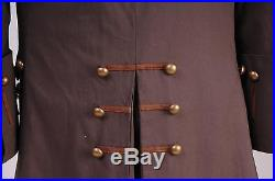 Pirates of the Caribbean Jack Sparrow Costume Cosplay Set Halloween Tailored
