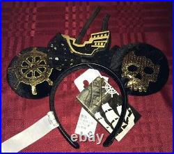Pirates of the Caribbean Minnie Mouse The Main Attraction Ears Headband NEW