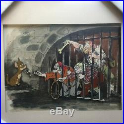 Pirates of the Caribbean Moonlit Voyage Jail Scene Framed 4 Disney Pin 46375