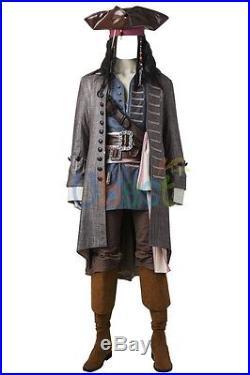 Pirates of the Caribbean Salazar Revenge Captain Jack Sparrow Cosplay Costume