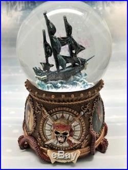 Pirates of the Caribbean Ship Black Pearl Disney Water Globe Snowdome Snow Globe