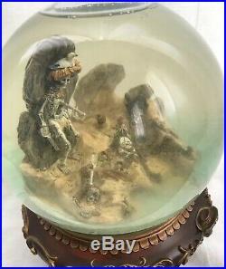 RARE Disney Large Pirates Of The Caribbean Yo Ho Musical Snow Globe Skeletons