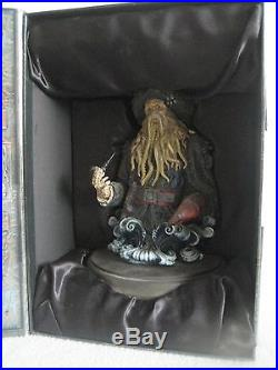 RARE NEW Disney Davy Jones Half Body Figurine Pirates of the Caribbean Figure