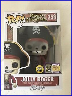 SDCC 2017 Funko POP! Jolly Roger Pirates of the Caribbean # 258 1000 Pcs GITD