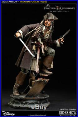 Sideshow Pirates Of The Caribbean Jack Sparrow Exclusive Premium Format Statue