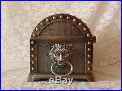 Super Size Pirates of the Caribbean Treasure Chest Case Vintage Bronze Box