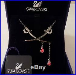Swarovski Crystal Disney ANGELICA SWORDS Pirates of the Caribbean Necklace RARE