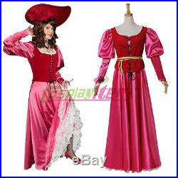 The Redhead dress Pirates Of The Caribbean cosplay costume