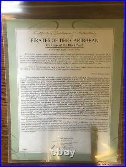 Thomas Kinkade Pirates Of The Caribbean SN Canvas 18x27 with frame