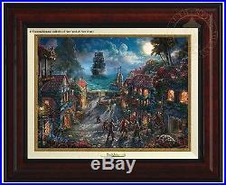 Thomas Kinkade Pirates of the Caribbean Canvas Classic (Burl Frame)