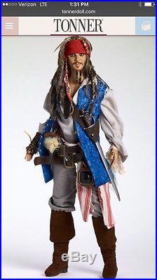 Tonner Matt 17 PIRATES OF THE CARIBBEAN CAPTAIN JACK Johnny Depp LE Doll NRFB