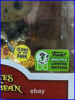 Treasure Skeleton Funko Pop Pirates of the Caribbean ECCC 2021 #783 LE 4000 Glow