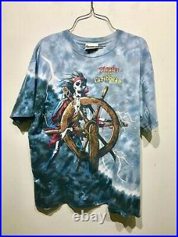 Vintage 1990s Pirates Of The Caribbean Tie Dye T-Shirt L Large Disney World