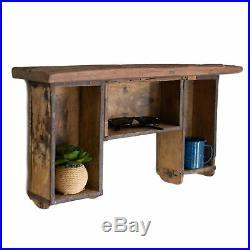 Vintage Wood Brick Mold Hanging Shelf Wall Floating Shadow Box Cabinet Rustic